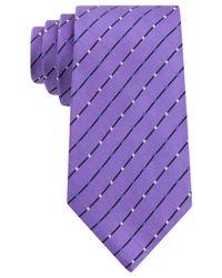 Geoffrey Beene - Purple City Grid Tie for Men - Lyst