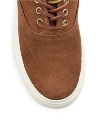 Polo Ralph Lauren | Brown Vaughn Suede Lace-up Sneakers for Men | Lyst
