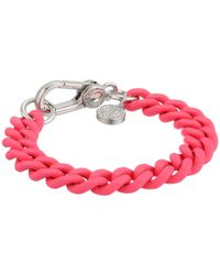 Marc By Marc Jacobs | Pink Key Items Rubber Chain Bracelet | Lyst