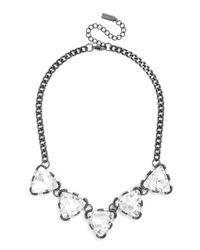 BaubleBar - Metallic Crystal Triad Collar - Lyst