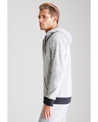 Forever 21 - Gray Slub Knit Hoodie for Men - Lyst