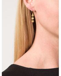 Marie-hélène De Taillac | Metallic Flower Pendant Earrings | Lyst