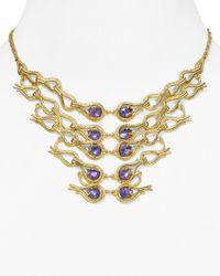 Alexis Bittar - Metallic Articulating Aigrette Bib Necklace 14 - Lyst