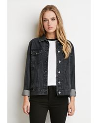 Forever 21 - Gray Classic Denim Jacket - Lyst
