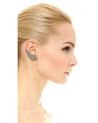 Auden - Metallic Calypso Pave Clip On Earrings - Lyst
