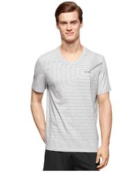 Calvin Klein - Gray Performance Sound Wave Logo T-shirt for Men - Lyst