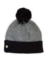 Spyder | Black Knit Pom-pom Hat | Lyst
