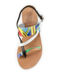Ancient Greek Sandals - Multicolor Alethea Printed-Leather Sandals  - Lyst