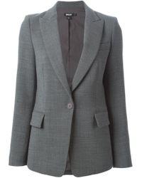 DKNY - Gray Slim Wool-Blend Blazer  - Lyst