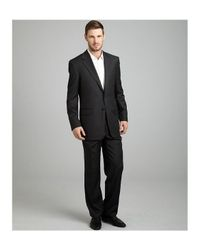 Hickey Freeman - Gray Grey Pinstripe Worsted Wool 2-button Madison Suit with Double Pleated Pants for Men - Lyst
