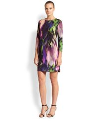 Trina Turk | Multicolor Abstract Print Knit Dress | Lyst
