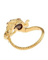 Alexander McQueen | Metallic Crystal Lizard Bracelet | Lyst