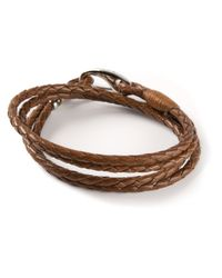 Paul Smith | Brown Woven Bracelet for Men | Lyst