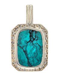 Slane | Blue Narcissus Grace Pavé Diamond & Turquoise Pendant Enhancer | Lyst
