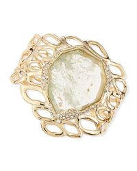 Alexis Bittar | Metallic Aiguille Liquid Aqua Crackle Glass Cuff | Lyst