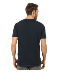 John Varvatos | Blue Short Sleeve Peace Crew Knit With Vertical Pickstitch & Peace Sign Embroidery K2081r2b for Men | Lyst