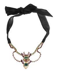 DSquared² | Metallic Bejeweled Neckace | Lyst