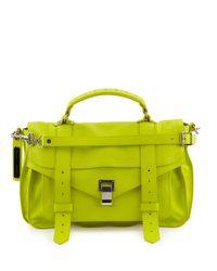 Proenza Schouler - Green Ps1 Medium Lux Leather Satchel Bag - Lyst