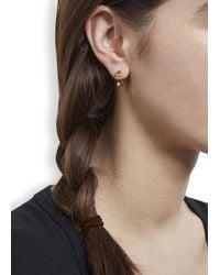 MFP MariaFrancescaPepe | Metallic 23Kt Gold Plated Studded Hoop Earrings | Lyst