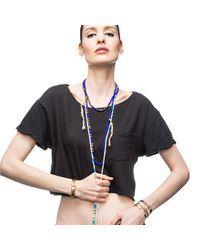 Lulu Frost | Blue G. Frost Culture Clash Morse Necklace | Lyst