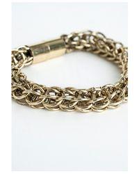 Missguided - Metallic Magna Gold Link Bracelet - Lyst