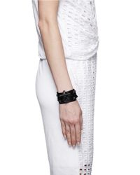 Givenchy - Black 'Obsedia' Drouble Wrap Leather Bracelet - Lyst