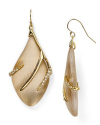 Alexis Bittar | Natural Lucite Crystal Embellished Sabre Wire Earrings | Lyst