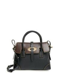 Dooney & Bourke | Black 'verona Small Elisa' Grained Leather Satchel | Lyst