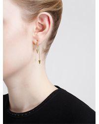 Asherali Knopfer   Metallic 18Kt Gold Interchangeable Bar, Pearl And Spike Earrin   Lyst