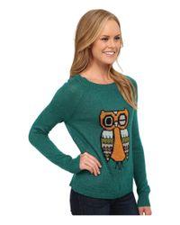 Woolrich | Blue Motif Mohair Crew Sweater | Lyst