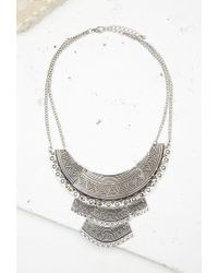 Forever 21 | Metallic Tribal-inspired Bib Necklace | Lyst