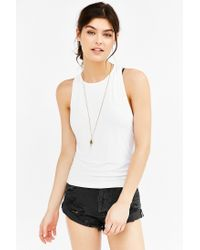 Truly Madly Deeply - White Barely There Tank Top - Lyst