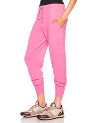 Victoria, Victoria Beckham - Pink Cashmere-blend Tracksuit - Lyst