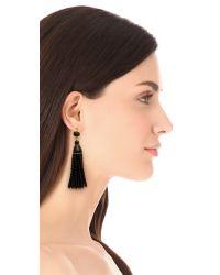 Kenneth Jay Lane - Black Beaded Tassel Earrings - Lyst