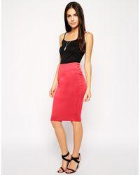 AX Paris - Red Pencil Skirt - Lyst
