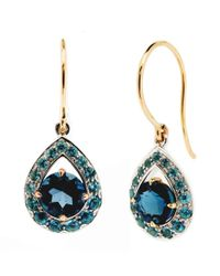 Dinny Hall - Blue Topaz Paola Anniversary Earrings - Lyst