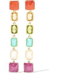 Ippolita | Metallic Rock Candy® Linear 18-karat Gold Multi-stone Earrings | Lyst