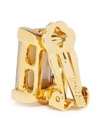 Kenneth Jay Lane | Metallic Crystal Clip Earrings | Lyst