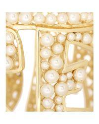 Dolce & Gabbana | Metallic Mamma Embellished Cuff | Lyst