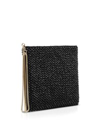 Reiss | Black Clutch - Cindy Embellished Zip | Lyst