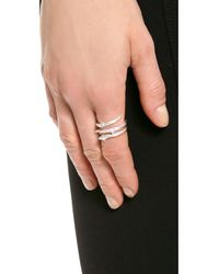 Aurelie Bidermann | Metallic Rosebud Ring | Lyst