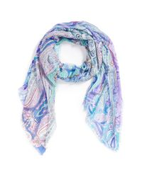 Echo - Blue 'Boho Queen' Paisley Wrap - Lyst
