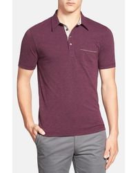 Original Penguin | Purple 'bing' Slim Fit Short Sleeve Polo for Men | Lyst