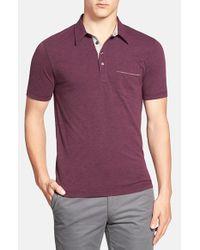 Original Penguin - Purple 'bing' Slim Fit Short Sleeve Polo for Men - Lyst