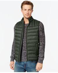 Tommy Hilfiger | Green Lightweight Puffer Vest for Men | Lyst