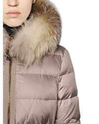 Moncler | Natural Fabrette Nylon & Micro Lux Down Jacket | Lyst