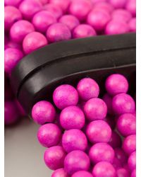 Monies - Pink Beaded Necklace - Lyst