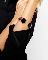ASOS | Metallic Statement Farrah Open Cuff Bracelet | Lyst