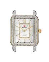 Michele - Metallic 'deco Ii' Diamond Dial Two-tone Watch Case - Lyst