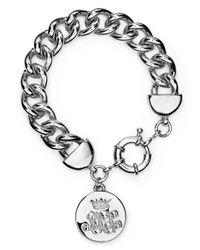 Lauren by Ralph Lauren | Metallic Logo Charm Curb Chain Bracelet | Lyst